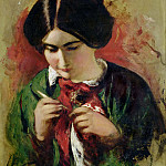William Etty - Study for The Crochet-Worker (Mary Ann Purdon)