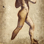 William Etty - Male nude walking