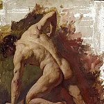 William Etty - Male nude