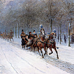 Otto Eerelman - Horse sledge in Haagse Bos