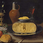 Gustave Courbet - Breakfast Piece with Cheese and Goblet