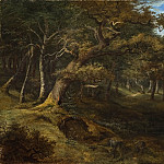 Nils Forsberg - Hare-hunt in a Beech Forest