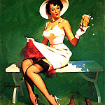 Gil Elvgren - GCGEPU-178_1968_Squirrely_Situation