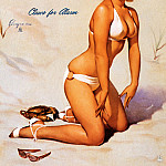 Gil Elvgren - ma Elvgren Claws For Alarm
