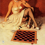 Gil Elvgren - ma Elvgren Check and Double Check