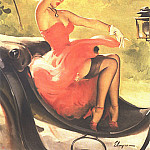 Gil Elvgren - GCGEPU-129_1950_Up_in_Central_Park