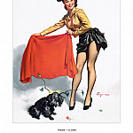 Gil Elvgren - PYG GE 061 Aw Come On 1953