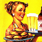 Gil Elvgren - GCGEPU-161_1950_Billboard_advertising_A-1_Pilsner_Beer
