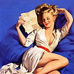 Gil Elvgren - ma Elvgren He Thinks I Am Too Good To Be True