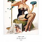 Gil Elvgren - PYG GE 005 No You Dont Time for Decision 1956