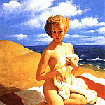 Gil Elvgren - GCGEPU-146_1950_Blanket_Coverage
