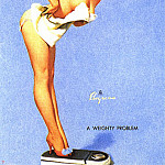 Gil Elvgren - GCGEPU-188_1960_The_Right_Scale