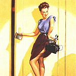 Gil Elvgren - GCGEPU-046_1948This_Ought_to_Make_a_Good_Shot