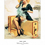 Gil Elvgren - PYG GE 047 Welcome Traveler 1955