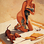 Gil Elvgren - ma Elvgren Taking Ways