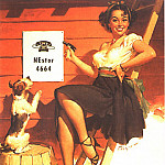 Gil Elvgren - GCGEPU-071_1951_A_Good_Sign