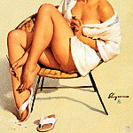 Gil Elvgren - ma Elvgren Best Foot Forward