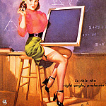 Gil Elvgren - ma Elvgren Is This the Right Angle