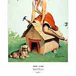 Gil Elvgren - PYG GE 035 Well Built R R Roof 1961