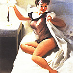 Gil Elvgren - GCGEPU-057_1970_Unfinished_Painting