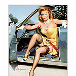 Gil Elvgren - PYG GE 032 Stepping Out Stepping High 1950s