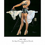 Gil Elvgren - PYG GE 026 He Kept Pressing Me for Details 1948