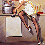 Gil Elvgren - ma Elvgren Now Dont Ask Me What Is Cookin
