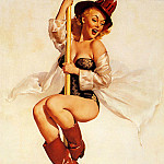 Gil Elvgren - ma Elvgren Look Out Below