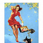 Gil Elvgren - PYG GE 048 Finders Keepers 1945