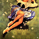 Gil Elvgren - ma Elvgren Lazy Days Are Here Again
