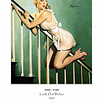 Gil Elvgren - PYG GE 007 Look Out Below Easy Does It 1956
