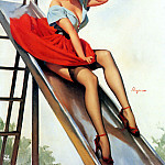 Gil Elvgren - ma Elvgren Up And Cunning