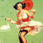Gil Elvgren - ma Elvgren Fresh Breeze