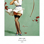Gil Elvgren - PYG GE 046 Aiming High Will William Tell 1959