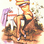 Gil Elvgren - GCGEPU-128_1962_Taking_a_Chance