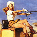 Gil Elvgren - GCGEPU-148_1970_Riding_High