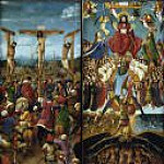 The Crucifixion, The Last Judgment , Jan van Eyck