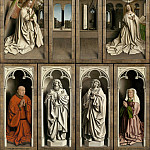 Ghent Altarpiece with wings closed, Jan van Eyck