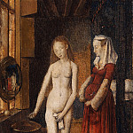 Madonna and Child at the Fountain , Jan van Eyck