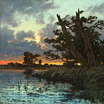 David Klöcker Ehrenstråhl - Landscape after Sunset
