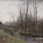 Pierre-Louis Cretey - Landscape with a Running Brook. Scene from the Carolles in Normandy