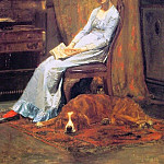 Thomas Eakins - The_Artists_Wife_and_his_setter_Dog