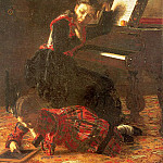 Thomas Eakins - Home Scene (The Sisters of the Artist), 1870-71, oil