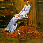 Thomas Eakins - The Artists Wife and his Setter Dog (Susan Macdowell