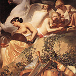 Caesar Van Everdingen - The Four Muses With Pegasus