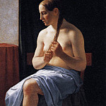 Seated Nude Model, Christoffer Wilhelm Eckersberg