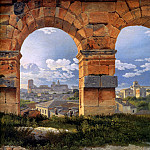 View through three arches of the Colos, Christoffer Wilhelm Eckersberg