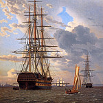 Christoffer Wilhelm Eckersberg - Russian ship of the line Asow