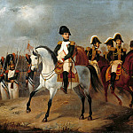 Louis Gallait - Napoleon I with his Generals
