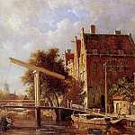 Adrianus Eversen - View on the Baan canal